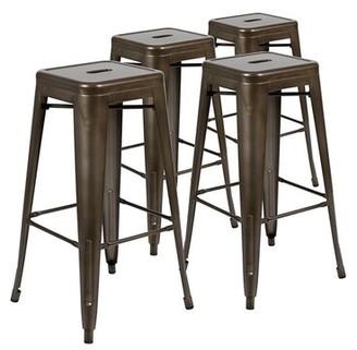 "Wrought Studioâ""¢ Pierpont Counter Stool Wrought Studioa Color: Gun Metal Gray, Seat Height: Counter Stool (24a Seat Height)"