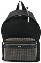 Saint Laurent studded backpack - men - Cotton/Leather/Brass - One Size