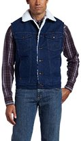 Wrangler Men's Sherpa-Lined Denim Vest