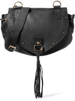 See by Chloe Collins Medium Textured-leather Shoulder Bag - Black