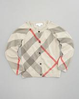 Burberry Printed Check Cardigan