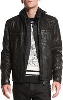 Belstaff Archer Coated Leather Jacket, Black