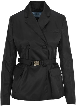 Prada Double Breasted Belted Jacket