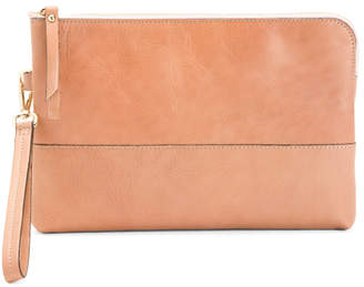 Leather Blush Document Holder Pouch