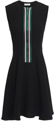 Sandro Ines Flared Striped Crepe Mini Dress