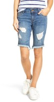 KUT from the Kloth Women's Distressed Frayed Hem Denim Bermuda Shorts