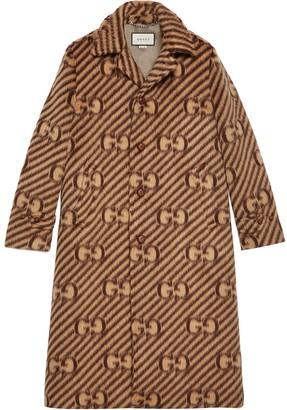Gucci GG stripe wool coat