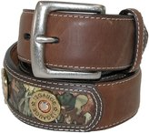 Badger 3 D Belt Company Men's Leather Belt with Shotgun Shells and Camo Inlay