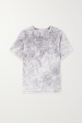 Stella McCartney Embossed Acid-wash Organic Cotton-jersey T-shirt - Gray