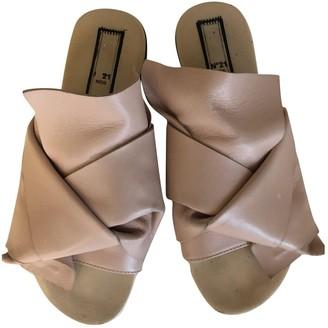 N°21 N21 Pink Leather Sandals