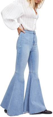Free People Float On High Waisted Bell Bottom Jeans
