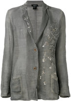 Avant Toi embroidered blazer - women - Cotton/Linen/Flax - S