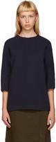 Marni Navy Wool Blouse