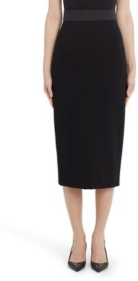 Dolce & Gabbana Stretchy Jersey Midi Pencil Skirt