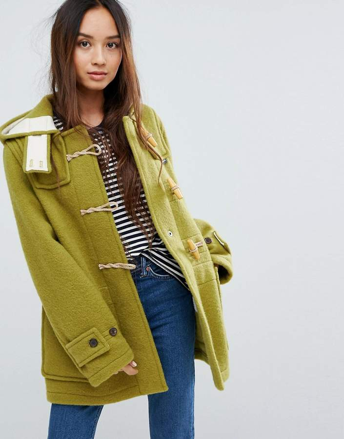 Gloverall Mid Monty Wool Blend Duffle Coat
