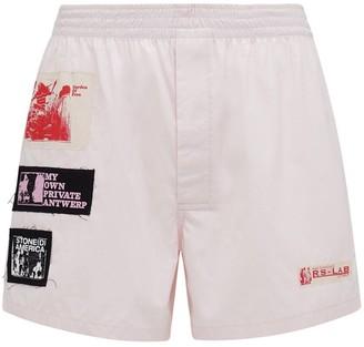 Raf Simons Cotton Boxer Shorts W/ Patches