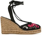 Marc Jacobs Nathalie wedge espadrilles - women - Cotton/Raffia/Leather/rubber - 36