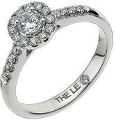 Leo Diamond Platinum 0.50ct I-P1 Round Halo Cluster Ring