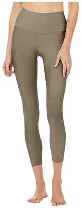 Alo 7/8 High-Waist Airlift Leggings (Black) Women's Casual Pants