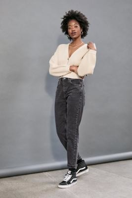 BDG Recycled Cotton Mom Jeans - Black 32W 32L at Urban Outfitters