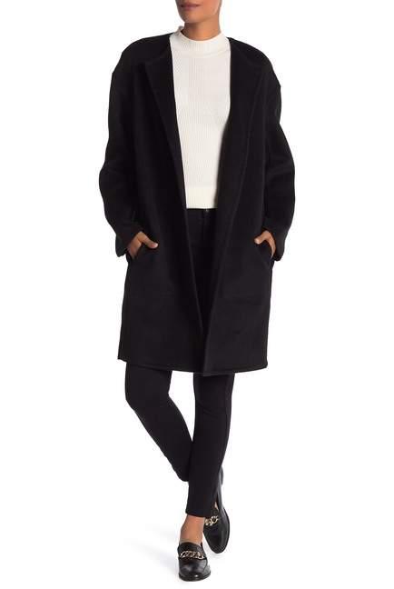 Vince Reversible Double Face Wool Blend Coat