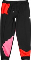 Mcq Alexander Mcqueen Black Appliquéd Cotton Jogging Trousers