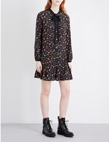 McQ by Alexander McQueen Pussybow printed silk dress