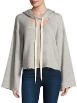 KENDALL + KYLIE Hooded Cutout Sweatshirt