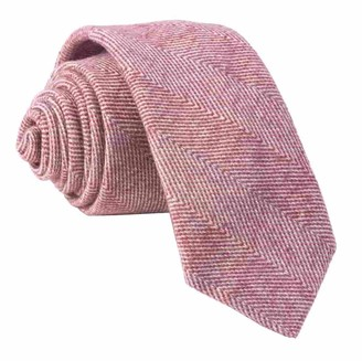 The Tie BarThe Tie Bar Burgundy Brushed Cotton Herringbone Tie