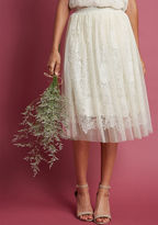 ModCloth Indulge in Joy A-Line Skirt in Ivory in L