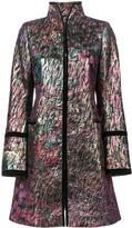 Josie Natori long jacquard jacket