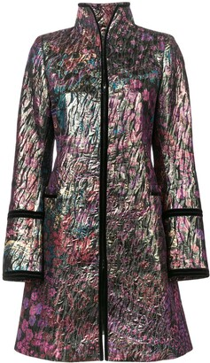 Josie Natori Long Jacquard Jacket