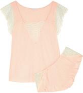 Eberjey Anika lace-trimmed jersey pajama set