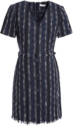 Claudie Pierlot Frayed Cotton-blend Tweed Mini Dress