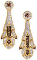 LeVian Le Vian Chocolatier Deco Estate Collection Diamond Drop Earrings (5/8 ct. t.w.) in 14k Gold