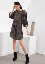 And other stories Micro Floral Puff Sleeve Mini Dress