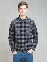 Whiz Black L/S Check Patch Shirt