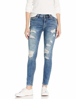 True Religion Women's Halle Big T High Rise Skinny Leg fit Jean with Destruction