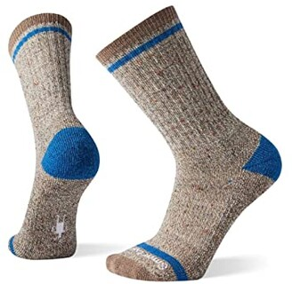 Smartwool Larimer Crew (Black/Taupe Heather) Men's Crew Cut Socks Shoes