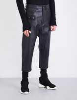 Rick Owens Painted-effect slim-fit tapered jeans