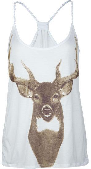 Full Tilt Deer Womens Braided Tank