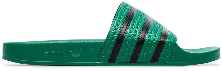 adidas green Adilette slider sandals