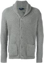 Polo Ralph Lauren front pockets ribbed detail cardigan