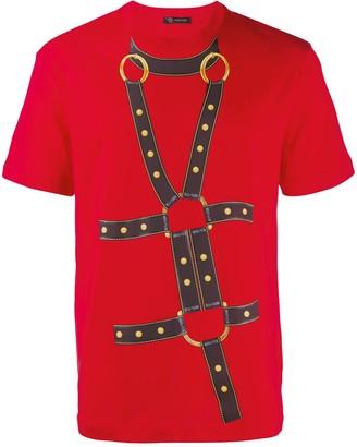 Versace bondage print T-shirt