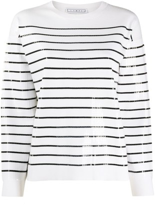 In The Mood For Love Striped Sequin Jumper