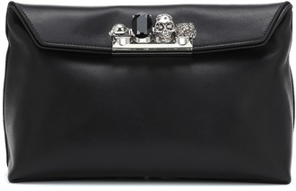 Alexander McQueen Skull Pouch leather clutch
