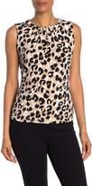 Calvin Klein Leopard Print Sleeveless Top