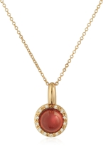 Tagliamonte Mia & Beverly Garnet and Diamond 18K Rose Gold Charm Necklace
