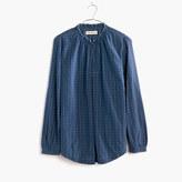 Madewell Rivet & Thread Japanese Indigo Gathered-Collar Shirt