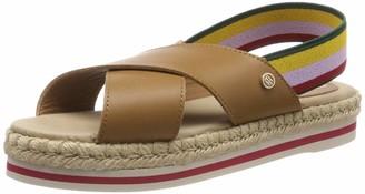 Tommy Hilfiger Women's Colorful Rope Flat Sandal Flip Flops